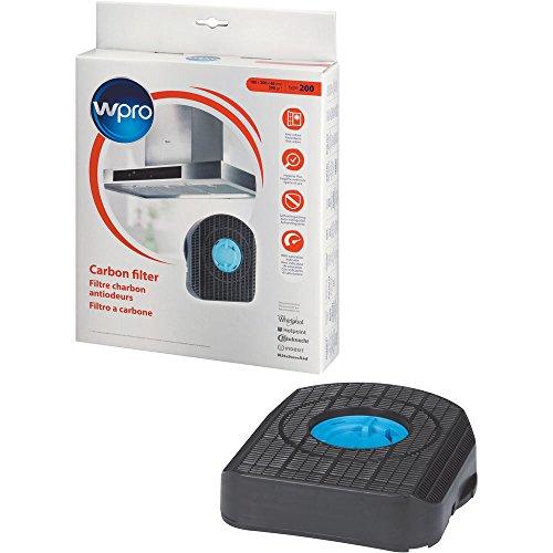 Wpro CHF200 200/1 Filtre à charbon actif pour hotte Compatible avec Ikea Bauknecht