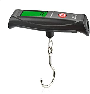 Luggage scale 110lb with 2 Battery 1 Waterproof Bag, NEWacalox Digital Luggage Mini Travel Scale Weigh Suitcases Hand Luggage Bags Black