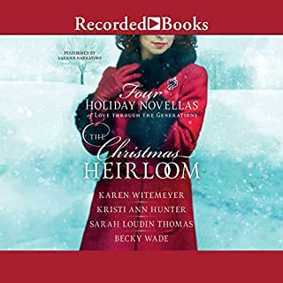 The Christmas Heirloom     Four Holiday Novellas of Love Through the Generations              Autor:                                                                                                                                 Karen Witemeyer,                                                                                        Kristi Ann Hunter,                                                                                        Sarah Loudin Thomas,                   und andere                          Sprecher:                                                                                                                                 Liz Pearce,                                                                                        Stephanie Cozart,                                                                                        Emily Pike Stewart,                   und andere                 Spieldauer: 12 Std. und 52 Min.     1 Bewertung     Gesamt 5,0