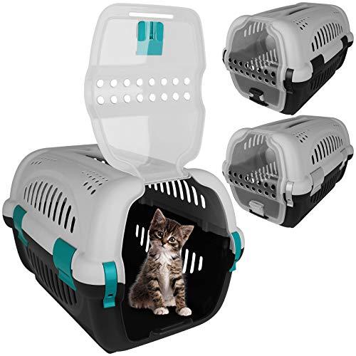 TW24 Tiertransportbox 51x33cm Transportbox Katze Haustiere Katzenbox Tierbox Katzentransportbox