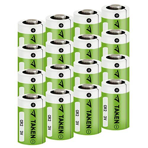 CR2 3V Lithium Battery, Taken CR2 Battery for Golf Rangefinder, Mini 25, Mini 50, Baby Monitor, Flashlight, Alarm Systems - 16 Pack