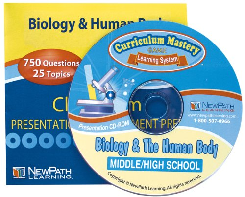 NewPath Learning Biology and The Human Body Interactive Whiteboard CD-ROM, Site License, Grade 7-10