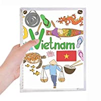 ベトナムの愛の心の風景の国旗 硬質プラスチックルーズリーフノートノート