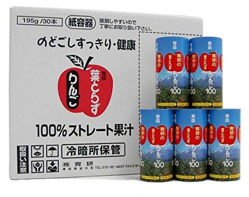 『青研 葉とらずりんご100 195ml カートカン 30本入 1ケース』の1枚目の画像