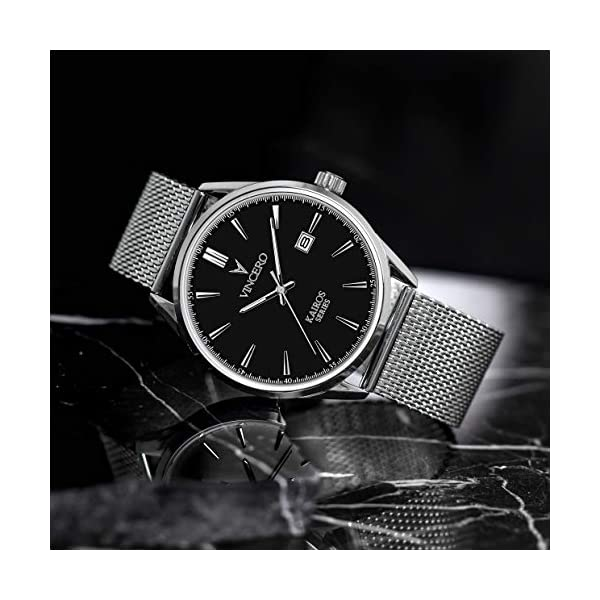 Vincero Luxury Men's Kairos Wrist Watch – 42mm Analog Watch – Japanese Quartz Movement…