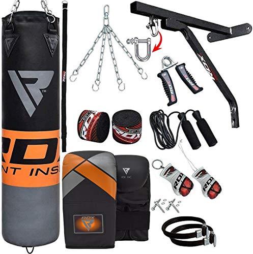 RDX 17 teiliges Sandsack Set mit Wandhalterung Kickboxen MMA Muay Thai Boxen
