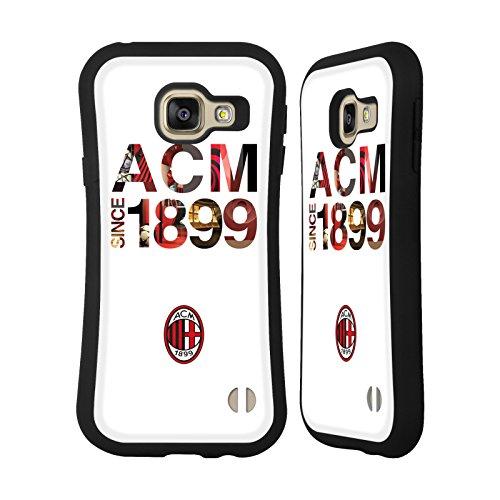 Head Case Designs Licenza Ufficiale AC Milan 1899 Adulti Cover Ibrida Compatibile con Samsung Galaxy A3 (2016)