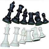 Juego de Piezas de ajedrez Juego de ajedrez de Torneo Juego de Piezas de ajedrez Solamente, Juego de Mesa de ajedrez Juego Piezas de ajedrez Internacional Piezas de ajedrez Completas (Medium-64mm)