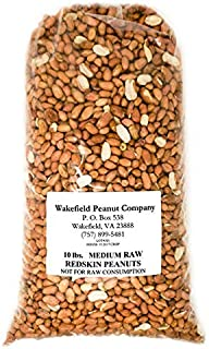 Virginia Peanuts Raw Redskin Peanuts, Premium Grade / 10 lbs Bulk/Shelled / For Cooking Peanut Brittle, Peanut Candy, Peanut Butter Cookies, Peanut Butter, Roasted Peanut, Trail Mix, Granola & more