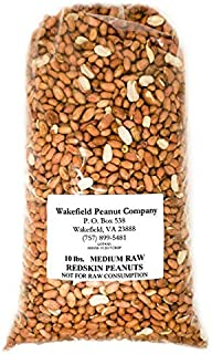 Virginia Peanuts Raw Redskin Peanuts, Premium Grade / 10 lbs Bulk/Shelled /For Cooking Peanut Brittle, Peanut Candy, Peanut Butter Cookies, Peanut Butter,Roasted Peanut, Trail Mix, Granola & more