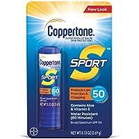 Coppertone SPORT Sunscreen Lip Balm Broad Spectrum SPF 50 (0.13 Ounce)