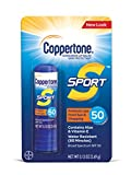 Coppertone SPORT Sunscreen Lip Balm Broad Spectrum SPF 50 (0.13 Ounce) (Packaging may vary)