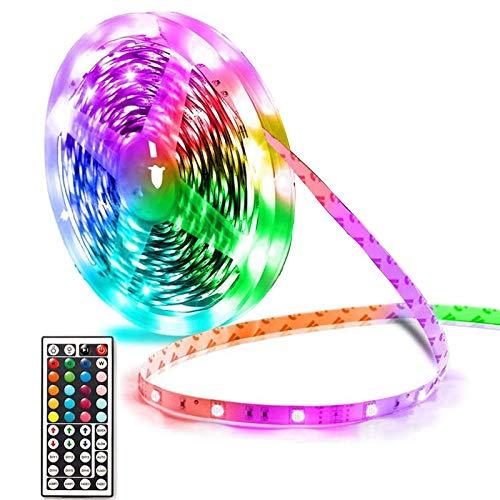 JIXIN Luces LED Tira De Luces LED Extra Largas De 32 Pies Que Cambian De Color para El Dormitorio 300 Leds RGB Brillante con Fuente De Alimentación Y Control Remoto