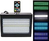 Lumières stroboscopiques 204 couleurs 7 couleurs 16 vitesses 40 WGRB Éclairage de scène à commande sonore