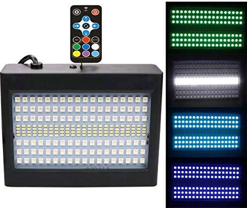 204Zwei-Farben-Blitzlichter Flutlicht-Disco-Licht 7 Farben 16 Geschwindigkeitsanpassungen 40WGRB Bühnenlicht Schallgesteuerte Bühnenbeleuchtung