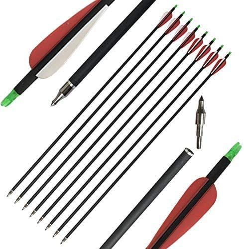NMCPY 31inch Archery Carbon Arrows Now free shipping 6 12 Topics on TV pcs 500 Spine Hunting Ta