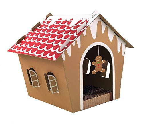 Companion Gear 70070 Holiday Gingerbread Cat Scratcher House
