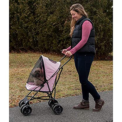 Pet Gear Travel Lite Pet Stroller for Cats and Dogs up to 15-pounds, Pink 4