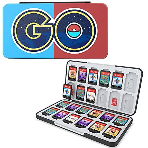 HEIYING Game Card Aufbewahrungsbox für Switch Game Card, Benutzerdefiniertes Muster Switch OLED Game Card Schutzhülle mit 24 Game Card Slots und 24 Micro SD Card Slots.…