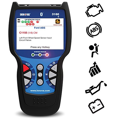Innova 3160g Pro OBD2 Scanner / Car Code Reader with Live data, ABS, SRS, Battery Reset, Service...