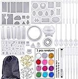 Juego de 83 moldes de silicona y herramientas con una bolsa de almacenamiento negra para h...