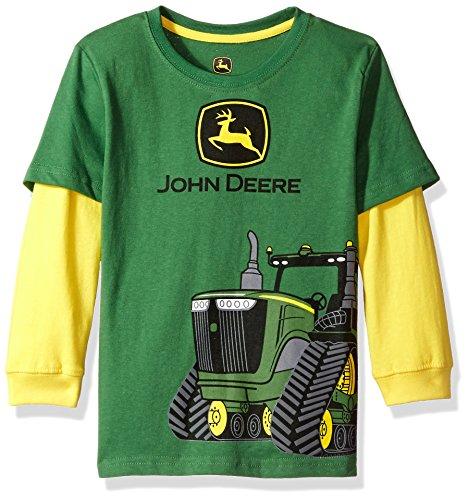 John Deere Boys' Little 2 for Tee, Green/Yellow, 5