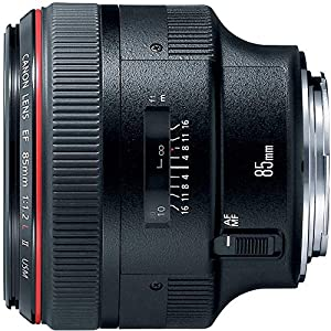 Canon EF 85mm f1.2L II USM Lens for Canon DSLR Cameras – Fixed (Renewed)