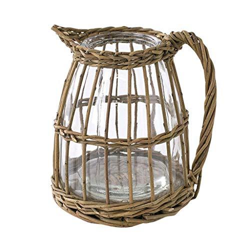 SPICE OF LIFE(スパイス) 花瓶 かご編み フラワーベース FONTAINE ピッチャー 15×16.5×18cm LYGN1030
