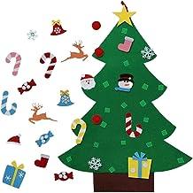 yotijay 95x70cm Feltro Árvore de Natal Artesanato Pendurado na Parede com Enfeites Removíveis Faça Você Mesmo para Porta d...