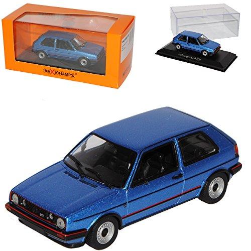 Volkwagen Golf II GTI 3 Türer Blau Metallic 1983-1992 1/43 Minichamps Maxichamps Modell Auto