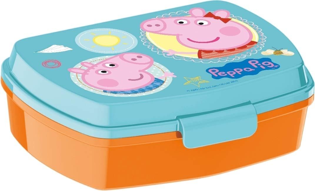 Peppa Pig Caja Merienda   Rectangular Caja de Desayuno   17 x 12 x ...
