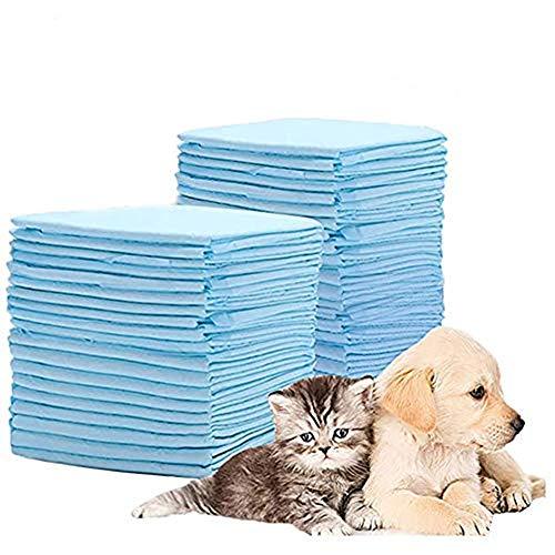 Outtybrave Hygienematten für Hunde, saugfähige Blätter für das Training von Welpen, Windeln für Haustiere, verlustfreie Schläfer, saugfähig, 45 x 33 cm, 100 Stück