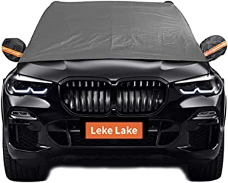 Leke Lake Car Windshield Snow Cover with Mirror Cover,Ice Removal Wiper Visor Protector, Triple Layered Snow Cover for Most Car,SUVs