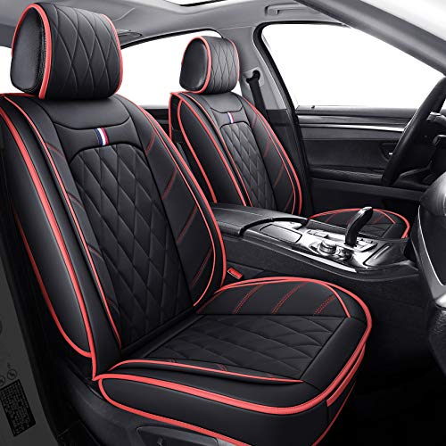 5 Car Seat Covers Full Set, Waterproof Leather...