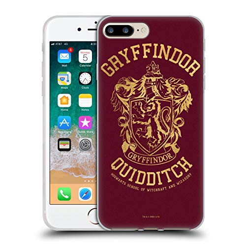 Head Case Designs Licenza Ufficiale Harry Potter Gryffindor Quidditch Deathly Hallows X Cover in Morbido Gel Compatibile con Apple iPhone 7 Plus/iPhone 8 Plus