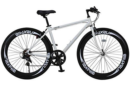 NEXTYLE(ネクスタイル)700Cクロスバイクアルミフレームシマノ7段変速ディープリム前輪クリックリリースNEXTYLECNX-7006ホワイト21272