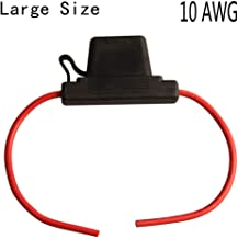 10 AWG In-Line blade Car truck off-road boat motors ATC/ATO Automotive Fuse Holder,Circuit Blow-out/Overload Protection Waterproof With Large Size 60A ATC Fuse Holder