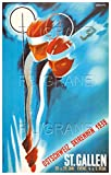 PostersAndCoTM St Gallen Ski 1939 Rnqu-Poster/Kunstdruck 60