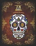 Zen Mandala: Libro para colorear Calaveras de azúcar   3 niveles de dificultad   30 Mandalas de calaveras   8.5 'x 11'