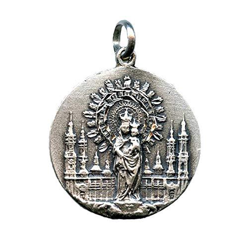 Medalla Virgen del Pilar 30 MM Plata DE Ley