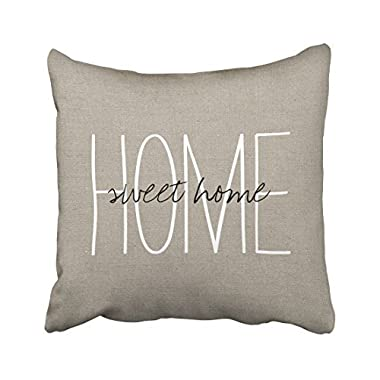 Emvency Square 18x18 Inches Decorative Pillowcases love rustic chic home sweet home lumbar pillow Cotton Polyester Decor Throw Pillow Cover With Hidden Zipper For Bedroom Sofa