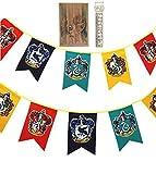 TPOTTER 12pcs[20X12CM] Geburtstags Fahnen und Flaggen für Harry Party Dekorations Töpfer Potter Geschenk Versorgungen Flag und Banner Dekor