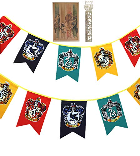 TPOTTER 12pcs[20X12CM] cumpleaños Banners y Banderas para Harry Party Decoraciones Potter Regalos Suministros Flag Banner decoración