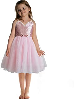 CQDY Flower Girl Dress Toddlers Sequin Bowknot Princess Party Birthday Dress Ballet Tutu