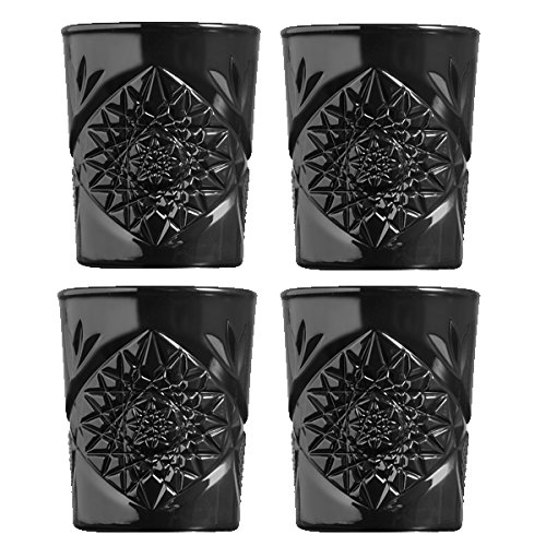 Libbey - Hobstar - Whiskyglas, Wasserglas, Saftglas, Glas - 4er Set - 350 ml - Kristallglas