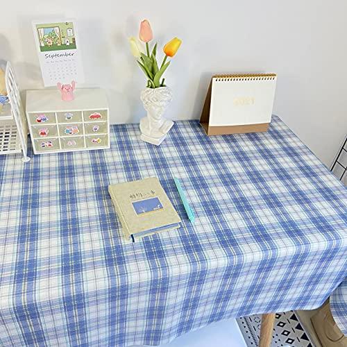 xiaopang Mantel redondo a prueba de derrames, de poliéster lavable, resistente a las manchas, mantel sin arrugas, para cenas, fiestas, restaurantes, 40 x 60 cm