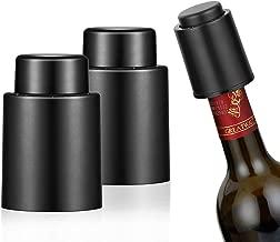 Les Bouchons de Bouteilles de vin ASNOMY Bouchons /à Champagne 2 Pcs Bouchons Acier Inoxydable pour Bouteille de Vin Accessoires de Cadeaux pour Le Champagne