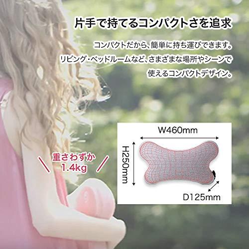 シンカマッサージクッション[ライトピンク/MC161]軽量コンパクト(3Dダブルもみ玉回転)ヒーター機能医療機器おしゃれ首肩背中腰手足