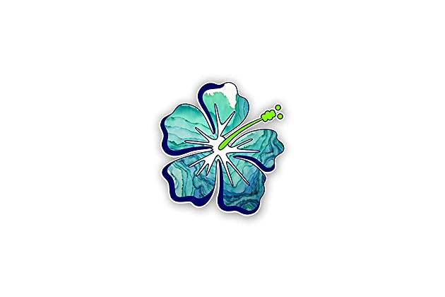 47d15597a0c6cc Hibiscus Flower sticker   decal   Free Shipping