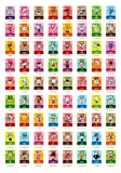 Animal Crossing New Horizons Game Rare Villager Amiibo Cards New Leaf ,72 pcs Nfc Game Cards With Crystal Case 1.250.850.05 inches, Festival Card NFC Tag